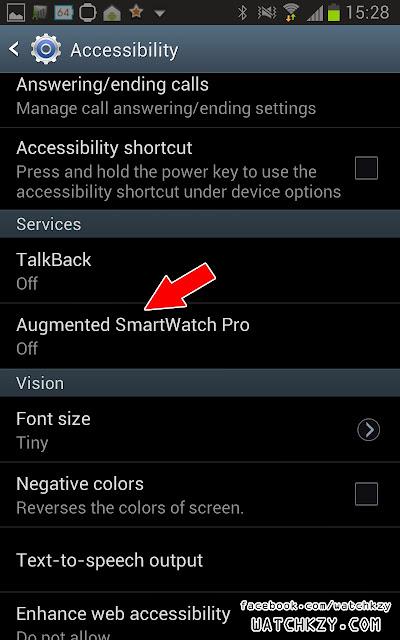 การตั้งค่า Augmented SmartWatch Pro