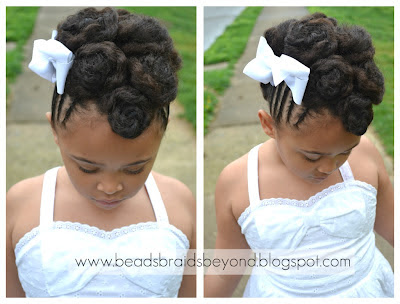 Beads, Braids and Beyond: Natural Hair Updo - Cornrows & Cinnabuns