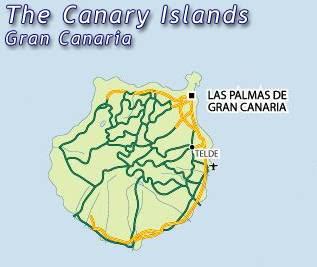 Gran Canaria Mapa Ciudad de la Región