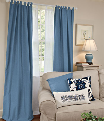 Tab Top Curtains Designs Ideas - Home Spaces Design