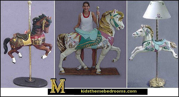 Variety Of Carousel Horse Decorations
