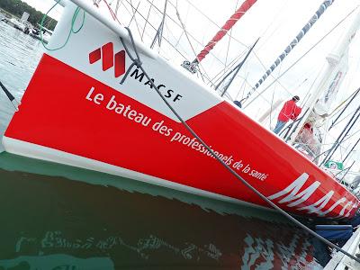 MACSF en route pour le Vendée Globe 2016 avec Bertrand de Broc.