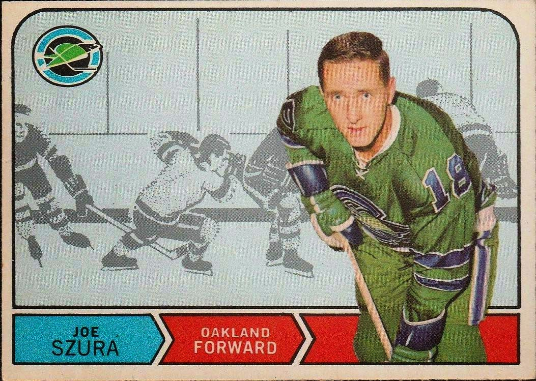 joe szura 1968-69 o-pee-chee rookie card oakland seals