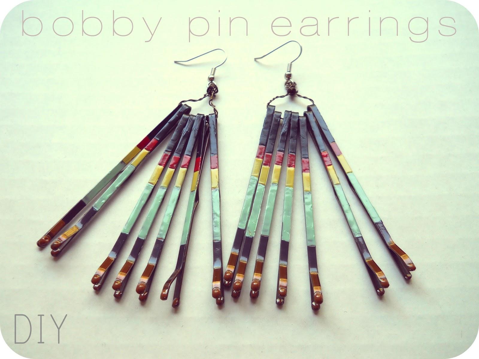The metric child diy bobby pin earrings
