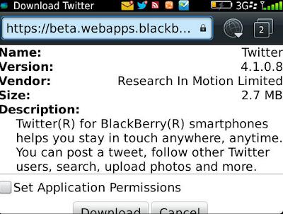 Hasta el momento desconocemos los cambios en está nueva versión Descargar Twitter desde BlackBerry Beta Zone