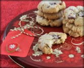 December - Cranberry-Mac Morsels (Macadamia Nut-Butter Cookies with Dried Cranberries & Fresh Nutmeg)