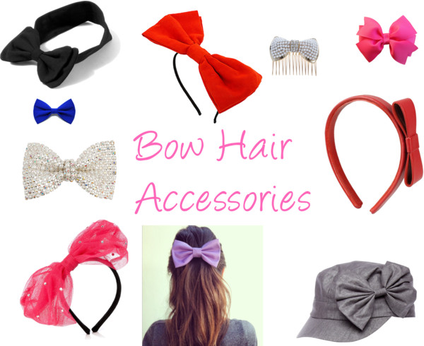 Polyvore Hair Bows Ribbons