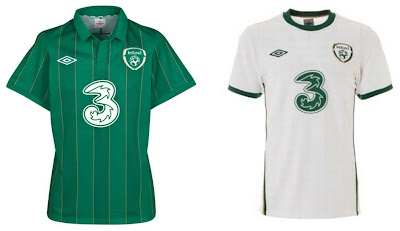 Republic of Ireland Home+Away Euro 2012 Kits (Umbro)