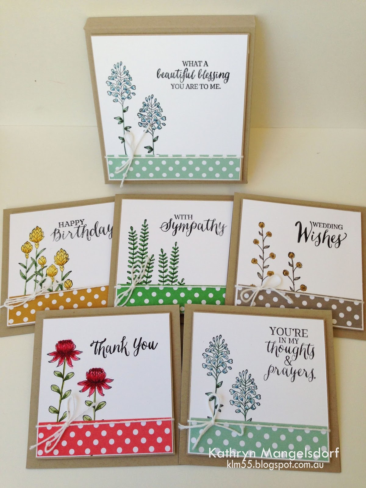 Kathryn's Stampin' World: Sale-A-Bration: Flowering Fields