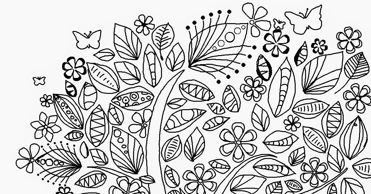 Abstract Tree Coloring Pages : Coloring sheets for girls abstract tree