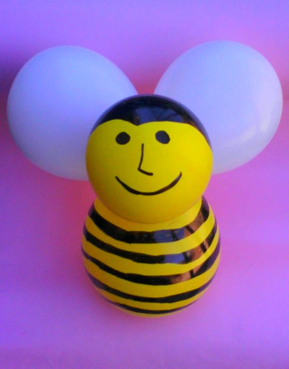 Nunca m s aburrido abeja con globos for Figuras de decoracion