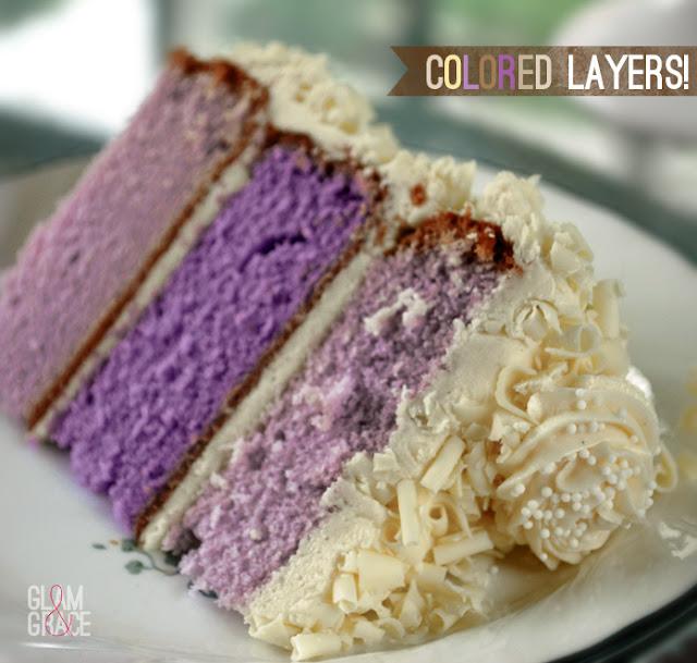 colored layer cake