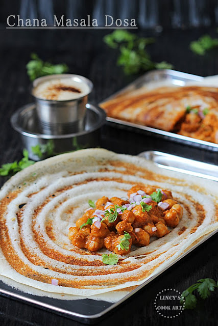 Masala Dosa with Chana Masala
