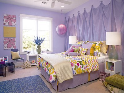 Trend Homes: Cool Purple Girl Bedrooms Design