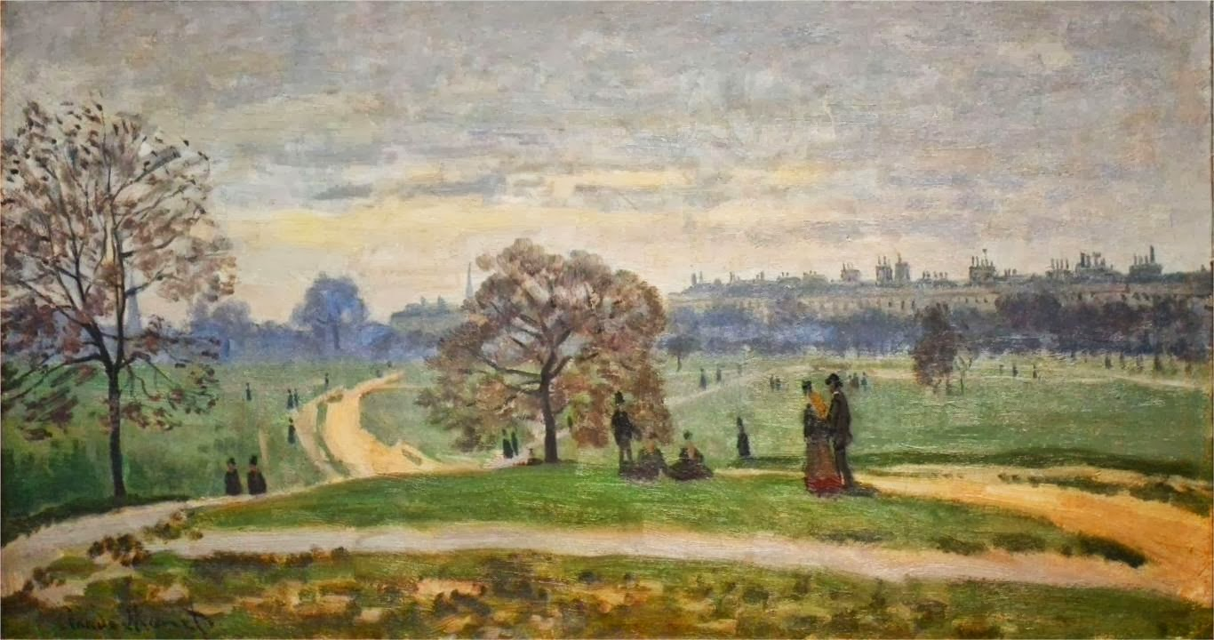 art artists claude monet part  claude monet 1871 hyde park london oil on canvas museum of art rhode island providence ri