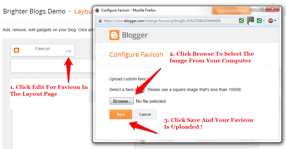 How To Add A Favicon To Blogger