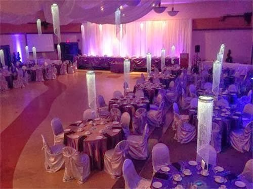 Gallery of wedding decorations with crystal accessories by Rick