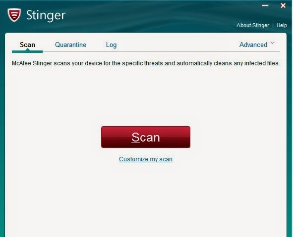 McAfee AVERT Stinger 12.1.0.1172 Free Download