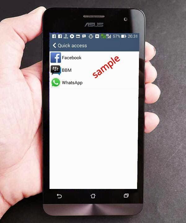 Quick Access Contoh Asus Zenfone