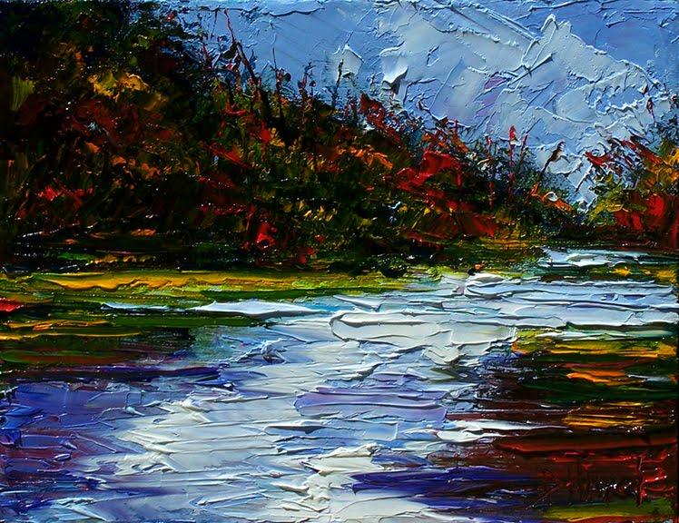 Debra hurd original paintings and jazz art landscape art for Artwork landscapes