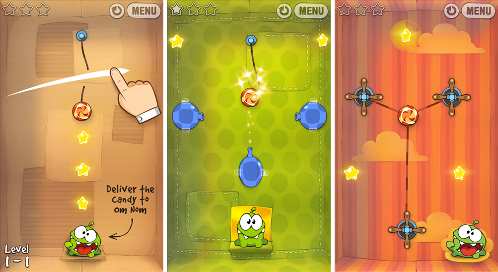 Cut The Rope Now Available for Windows Phone