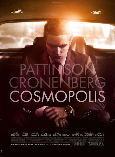 Cosmopolis (2012), starring Robert Pattinson as billionaire asset manager Eric Packer, directed by David Cronenberg, movie poster