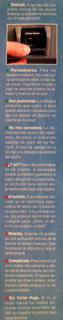 detalles accesorios Renault Scénic 2.0 Privilegie