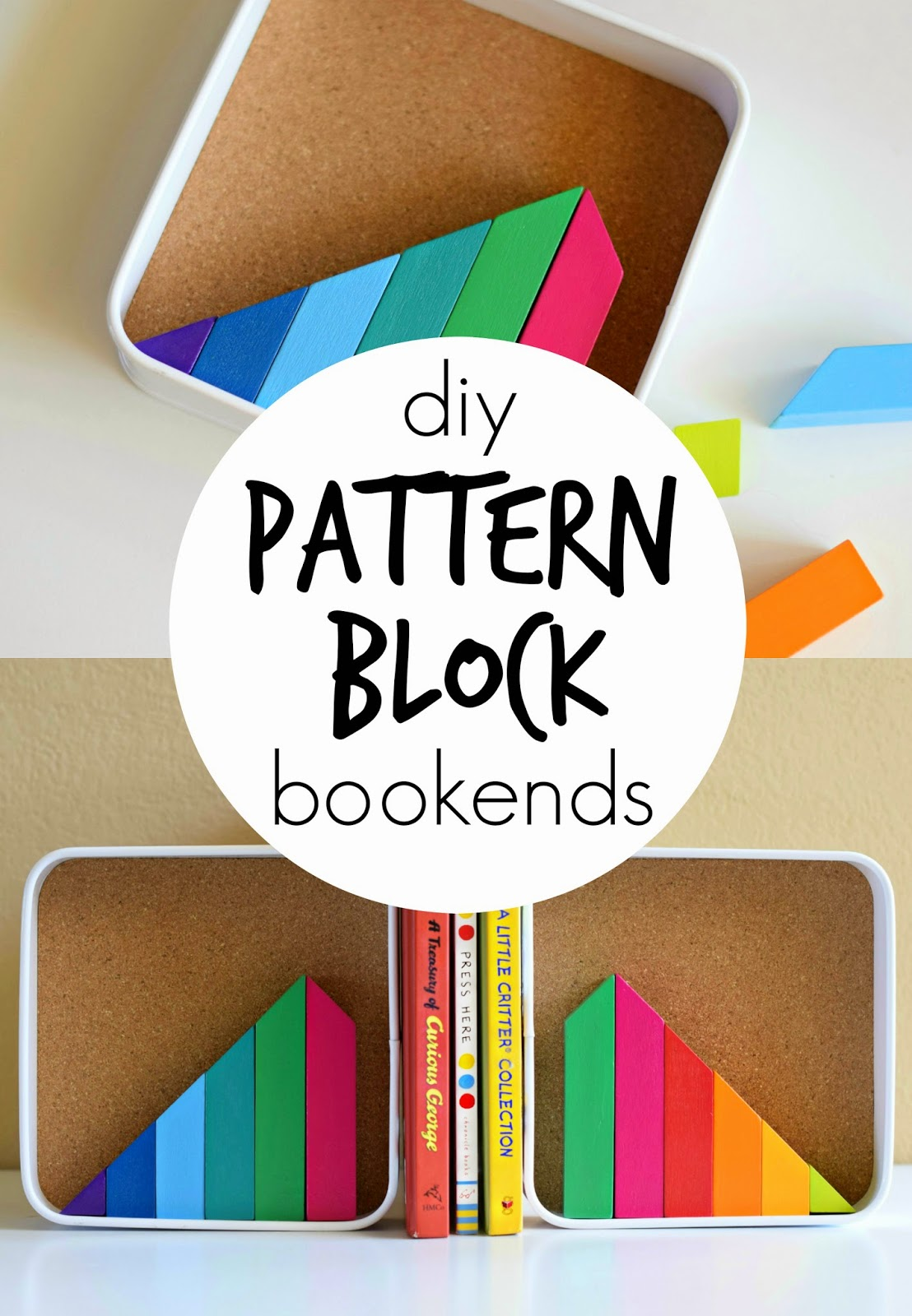 Mommy Testers, DIY Pattern Block Bookends, Target Toy Emporium, Mindware Pattern Blocks, Pattern Block DIY, #TargetToys #shop
