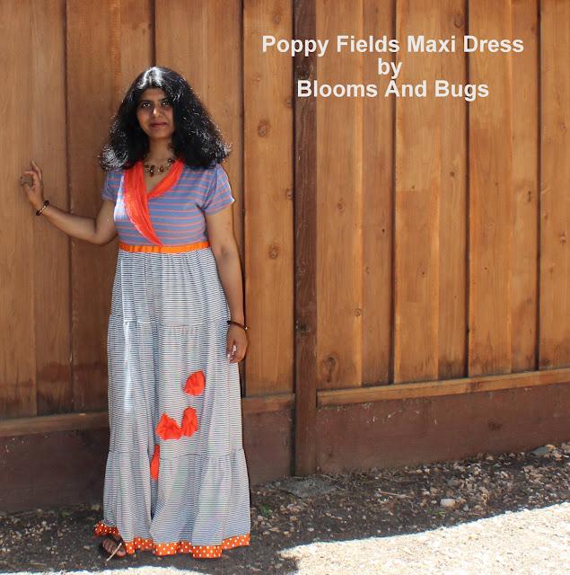 poppy fields maxi dress