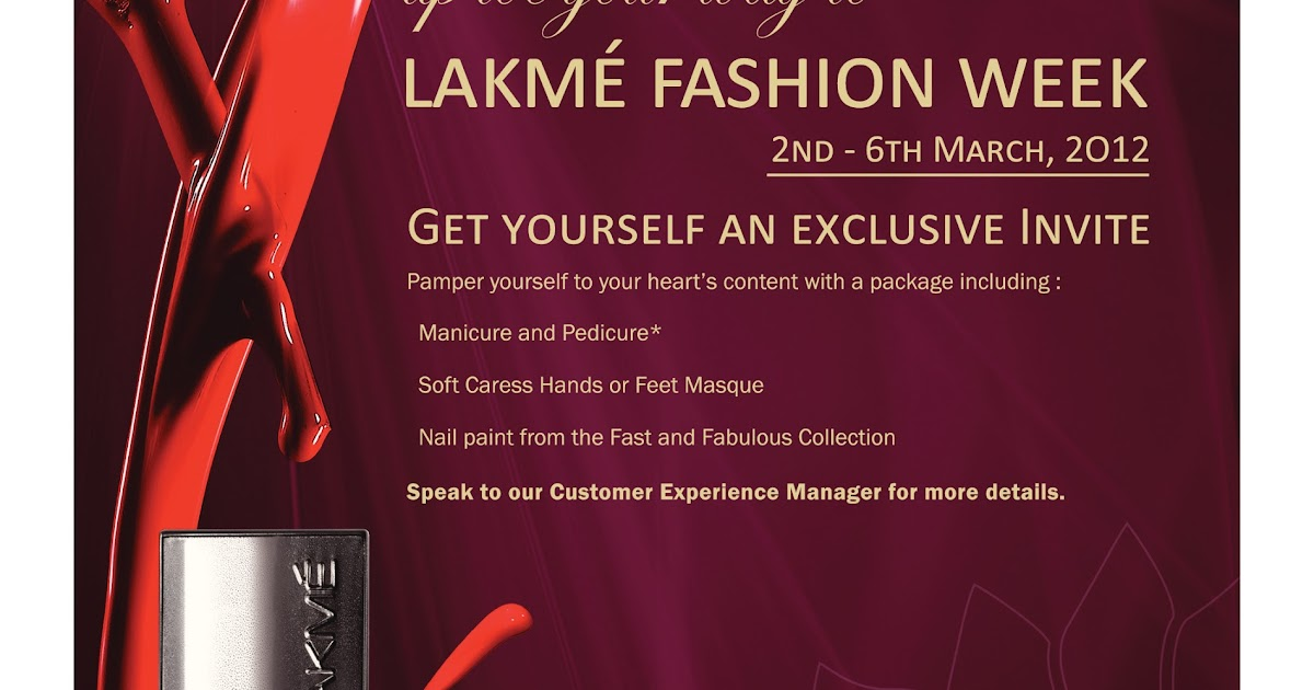 How To Get Passes For Lakme Fashion Week