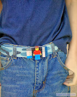 Homemade cute belt from Lego toy pieces