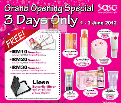 Sasa Grand Opening Sale
