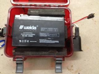 Team nucanoe fish finder power outlet waterproof for Fish finder battery