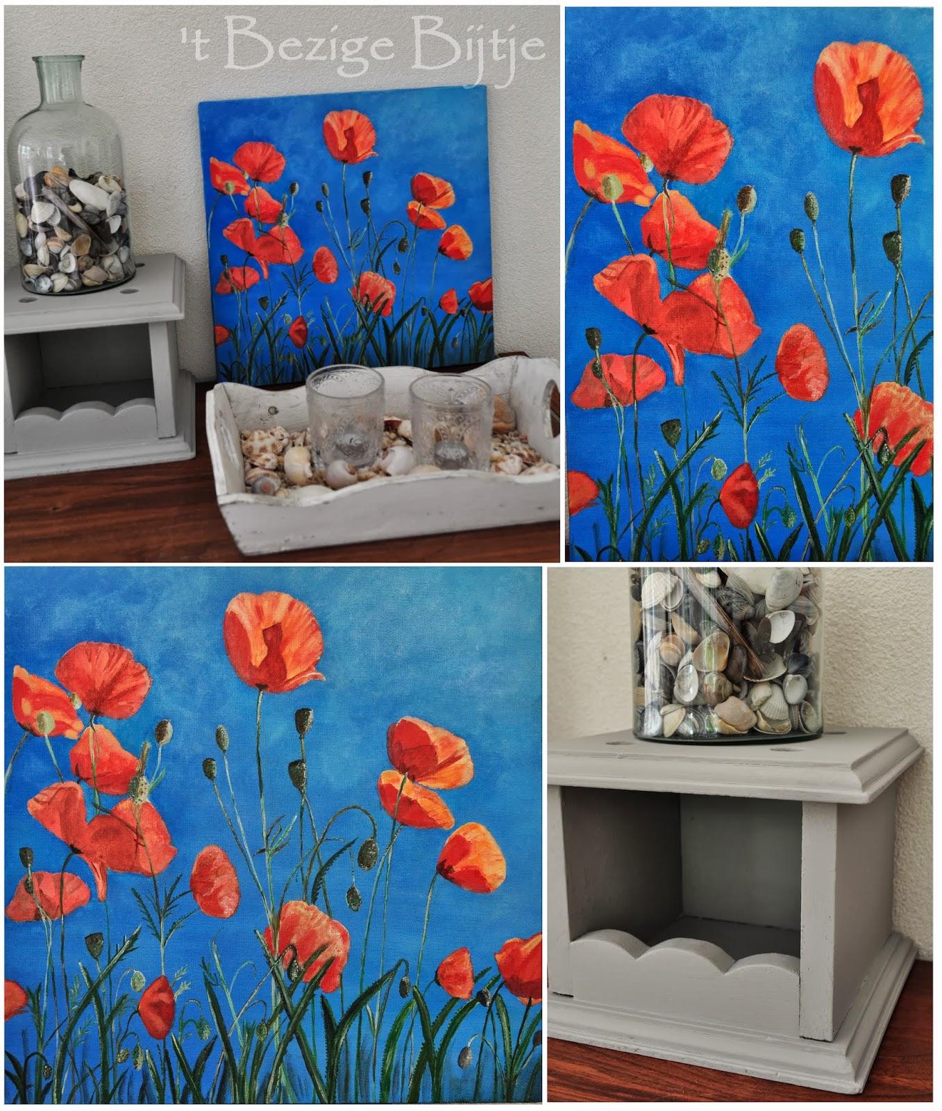 39 t bezige bijtje blij met mijn schilderij - Schilderij kamer ontwerp ...