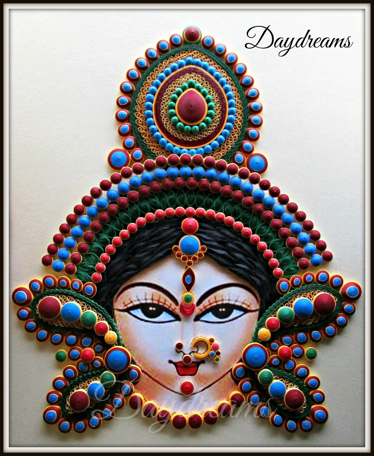 Daydreams quilled durga for Paper quilling work