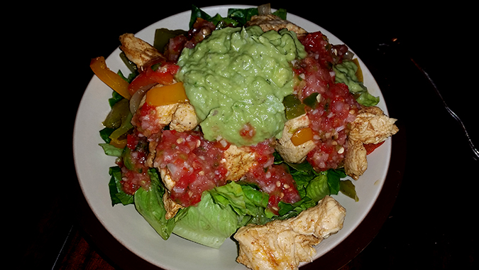 Whole30 taco salad with guacamole