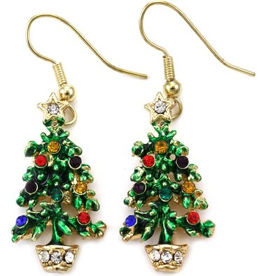 Flashing Christmas Earrings to Get in the Party Spirit - Fashion House