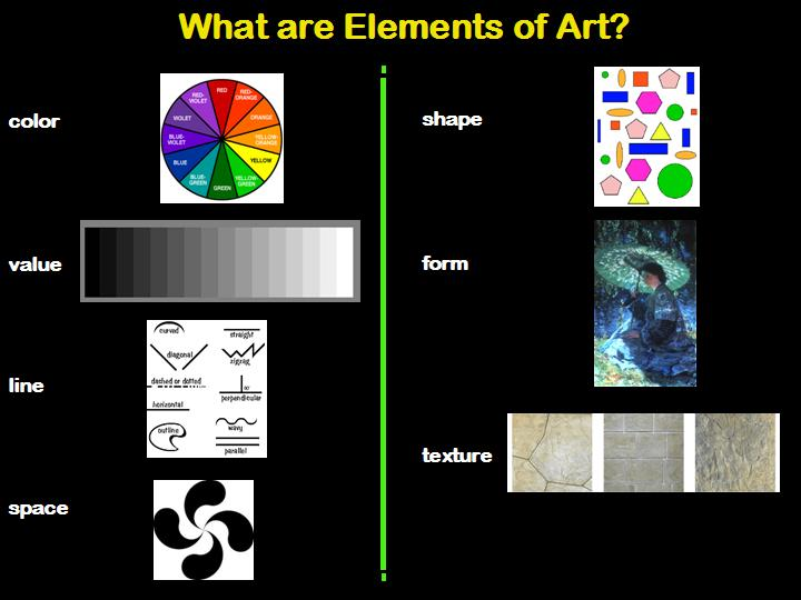 5 Elements Of Art : Visual arts elements of art and principles design