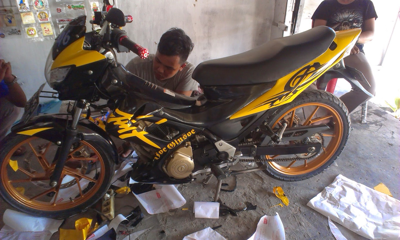 Foto Cutting Sticker Motor Satria Fu Modif Sticker
