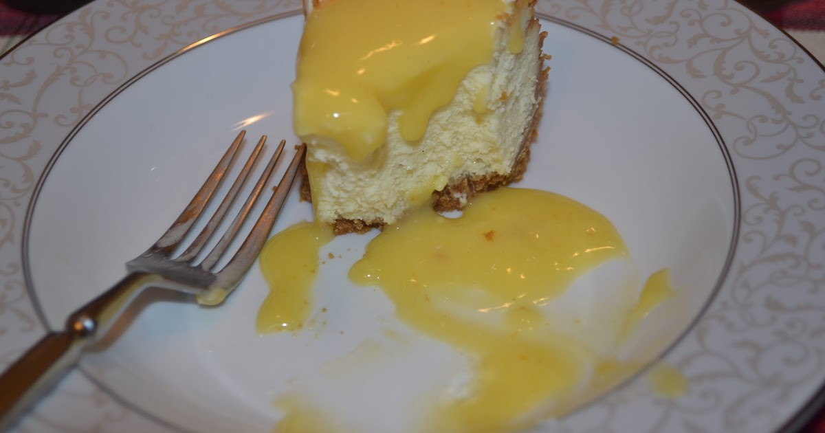 ... : Vanilla Bean Cheesecake With a Ginger Crust and Orange Curd Sauce