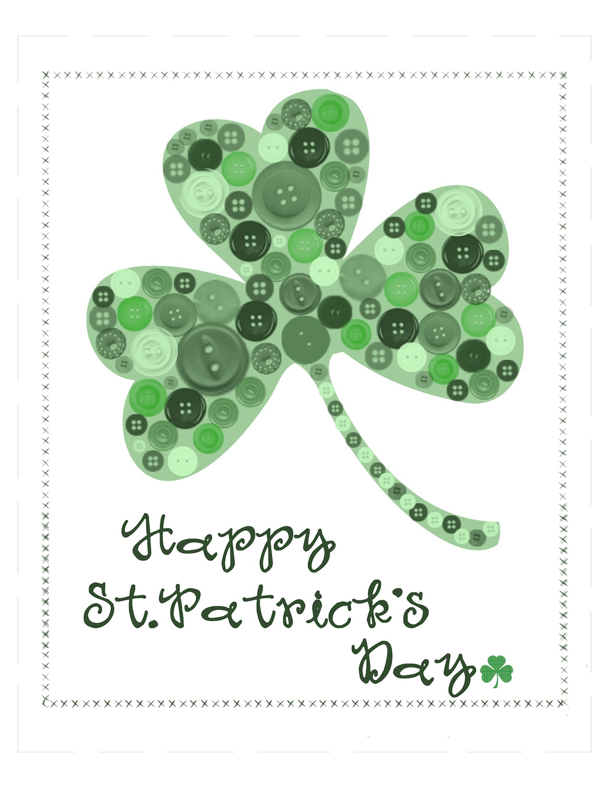 Playful image throughout free printable st patrick day worksheets