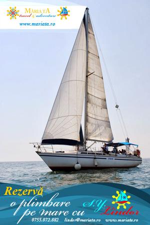 Rezerva o plimbare pe mare cu iahtul Lindor