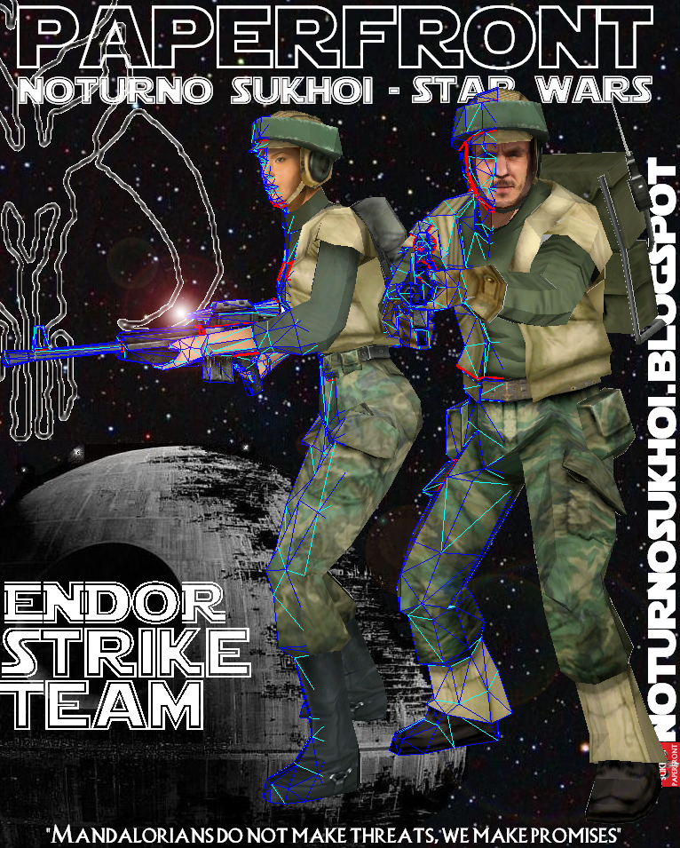 Endor Strike Team Papercraft