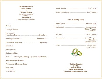 Wedding Collection Nowadays: wedding program samples | wedding ...
