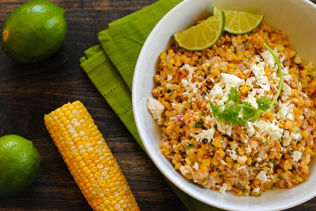Roasted Mexican Street Corn Salad - A crunchy and spicy salad with ...