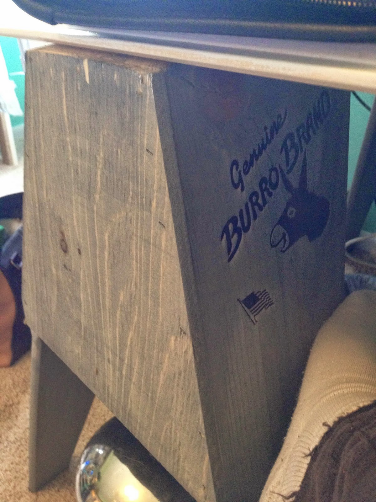 amazing Burro Brand Sawhorses Part - 10: The sawhorses are Burro Brand and feature these lovely donkey logos. I  turned them so they would be facing away from you. My husband thought I  should ...