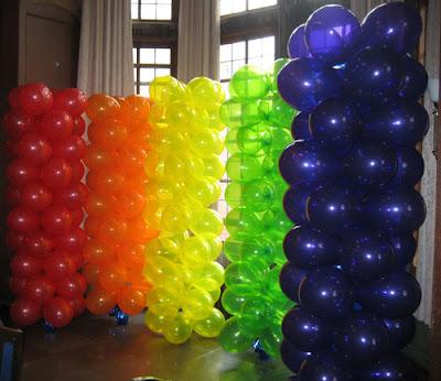 Decoraci n con globos c mo hacer una columna - Como hacer decoracion con globos ...