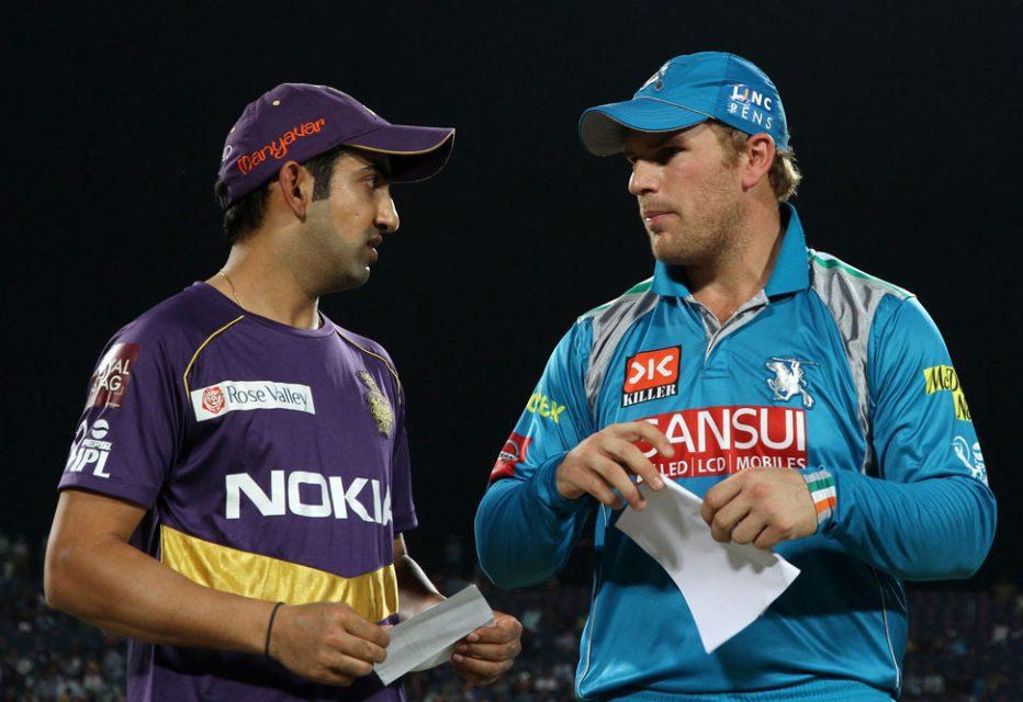 Gautam-Gambhir-Aaron-Finch-PWI-vs-KKR-IPL-2013
