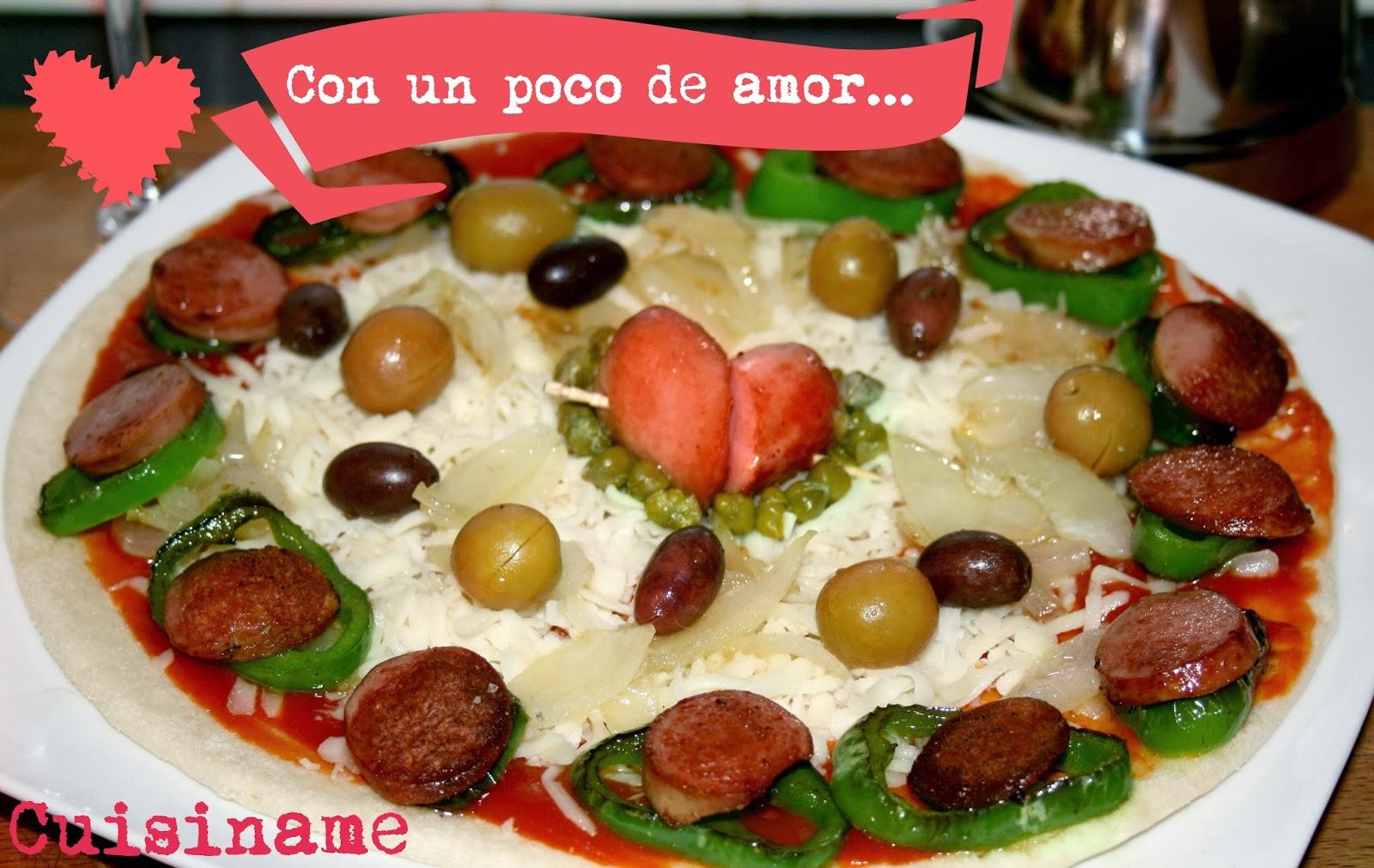 pizza casera, recetas de san valentín, recetas de pizzas, recetas originales, recetas caseras, carne, pizzas, yummy recipes, recetas de cocina, gastronomía, humor