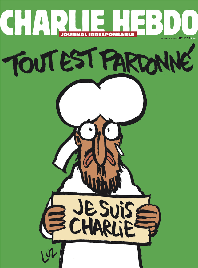 Charlie Hebdo, Tuesday January 13.
